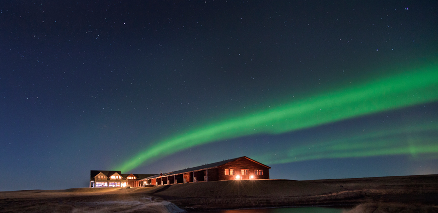 Northern Lights over Hótel Rangá