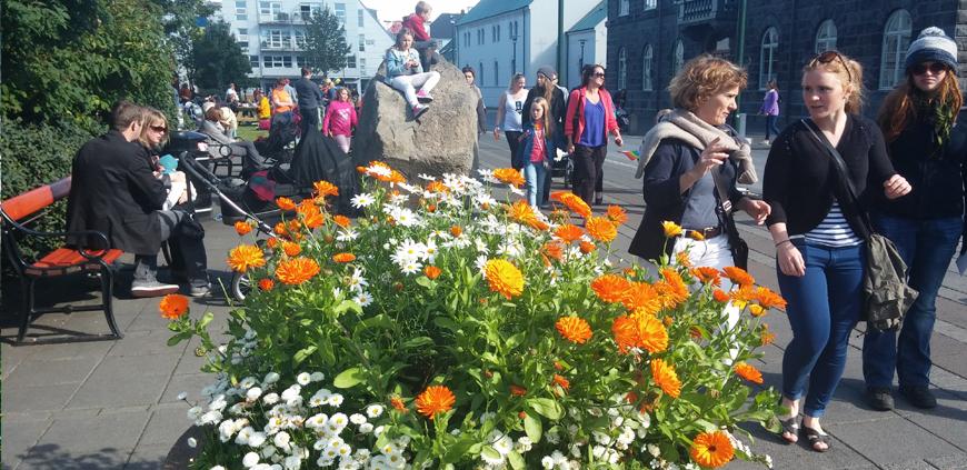 Reykjavík city center main plaza