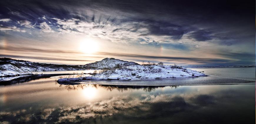 Winter at lake Thingvellir