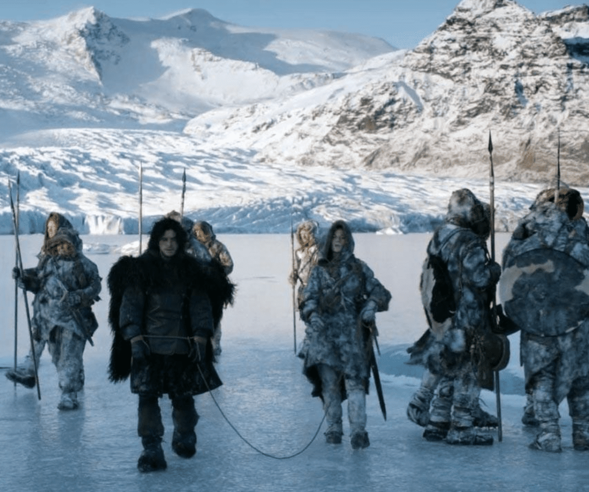 Game of Thrones characters on film site in Iceland