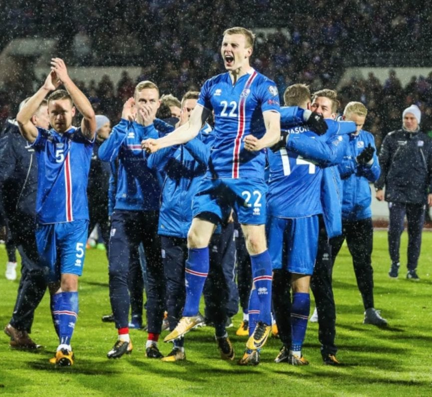 Euphoria with Iceland soccer team