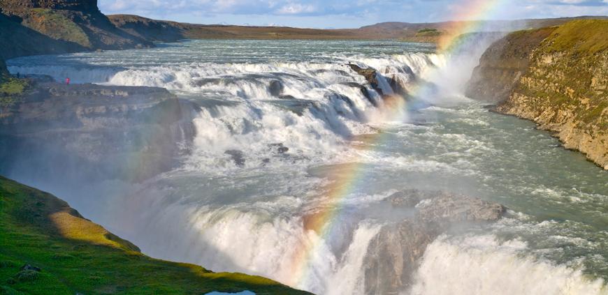 The big Gullfoss falls