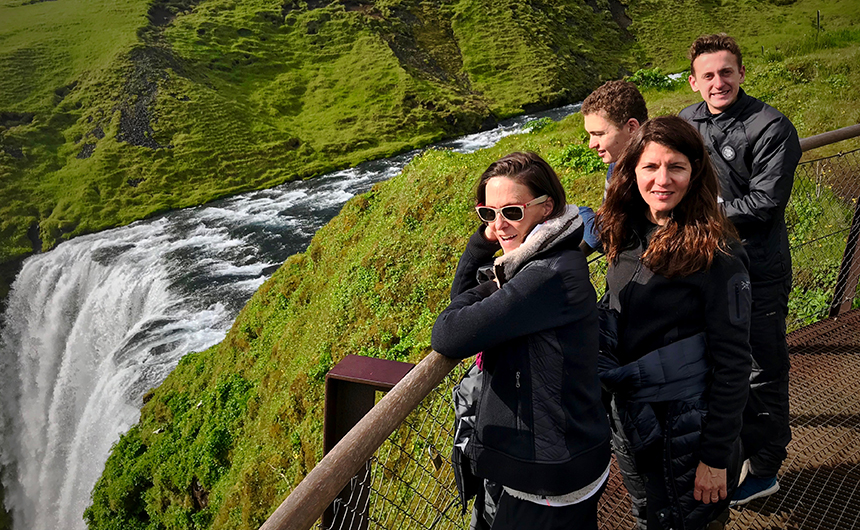 Moms with their teens on adventure in Iceland