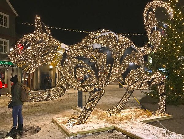 Christmas decoration in Reykjavík city centre