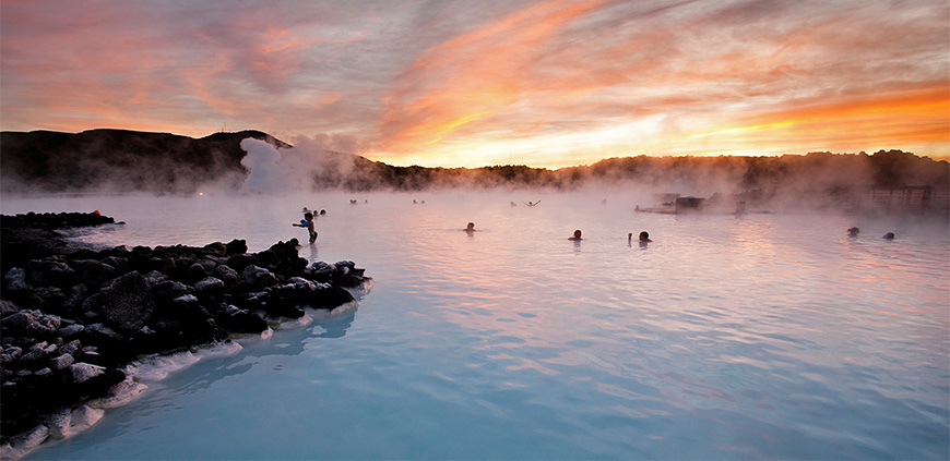 Blue Lagoon, hot sprigs and lava fields day tour of Iceland Discovery