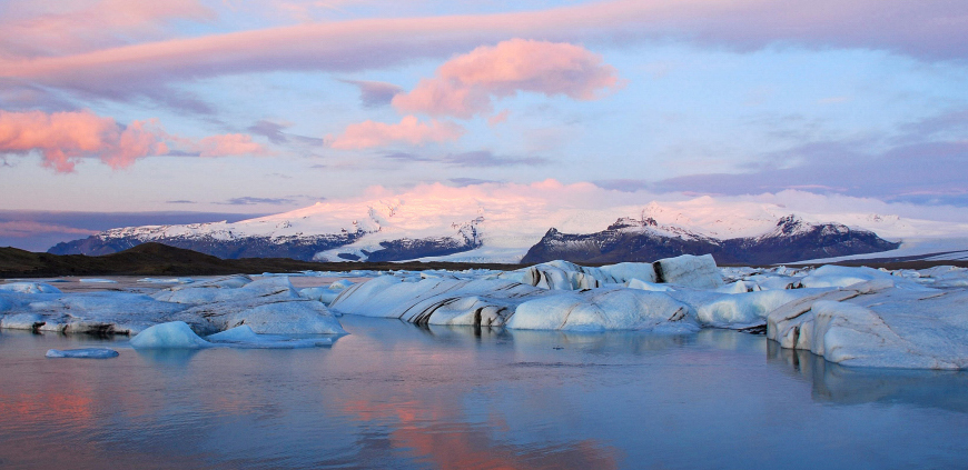 The Glacier Lagoon is a part of the South Coast private tour