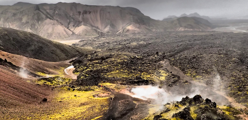 Laugahraun lava field