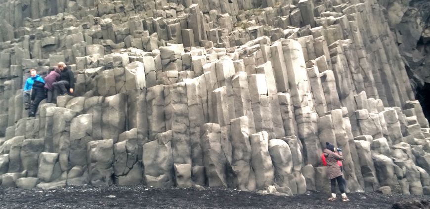 Reynisfjara black sand beach is a part of the South Coast private tour