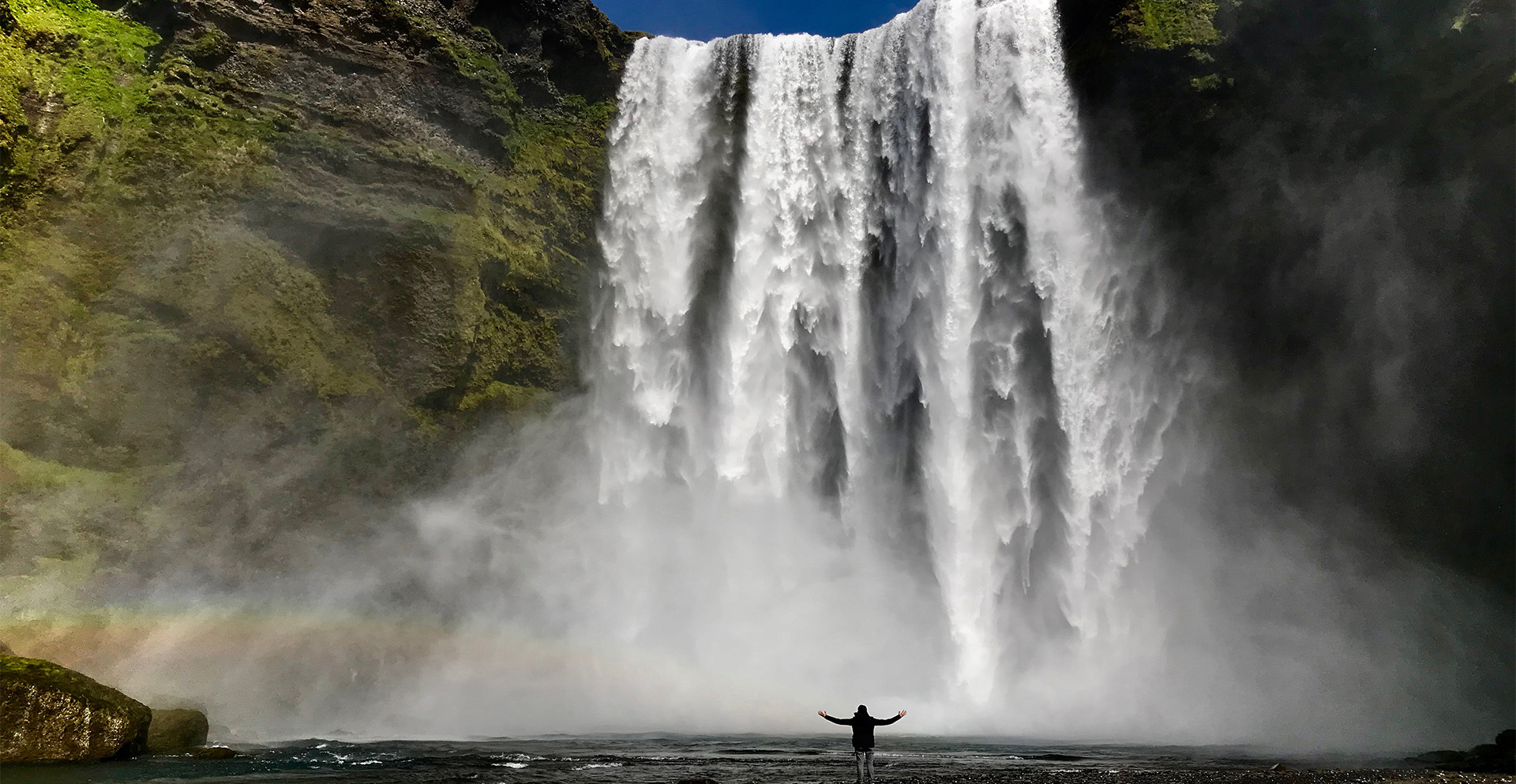 Skogafoss waterfall on Iceland Discovery private tours