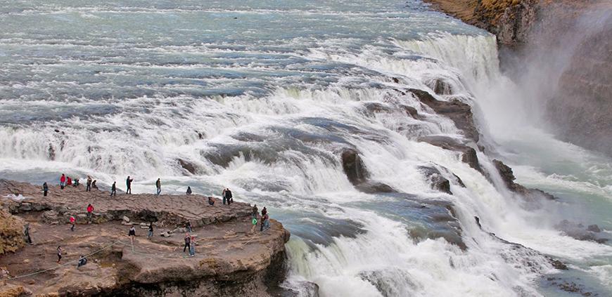 The big waterfall Gullfoss