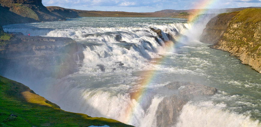 The big Gullfoss falls